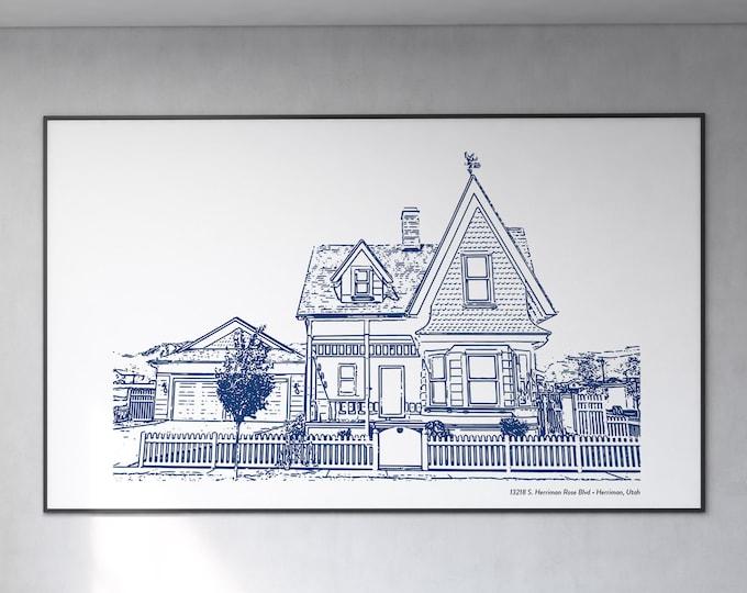 Custom House Portrait Art | Venue Portrait Art