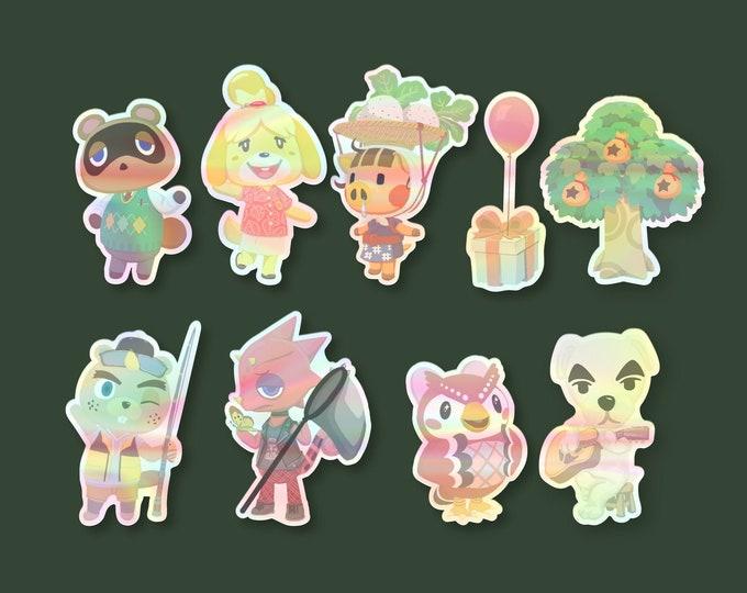Holographic Animal Crossing Vinyl Stickers