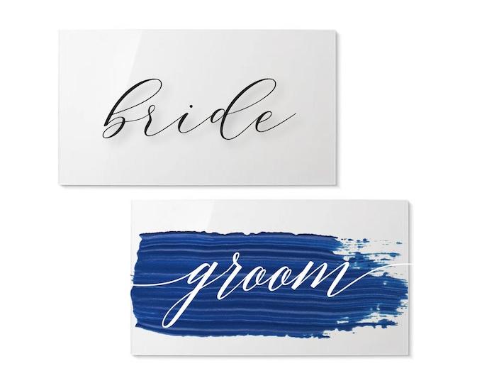Acrylic Name Plate   Modern Calligraphy Name Card   Wedding Place Card   Custom Acrylic Escort Card   Party Favors