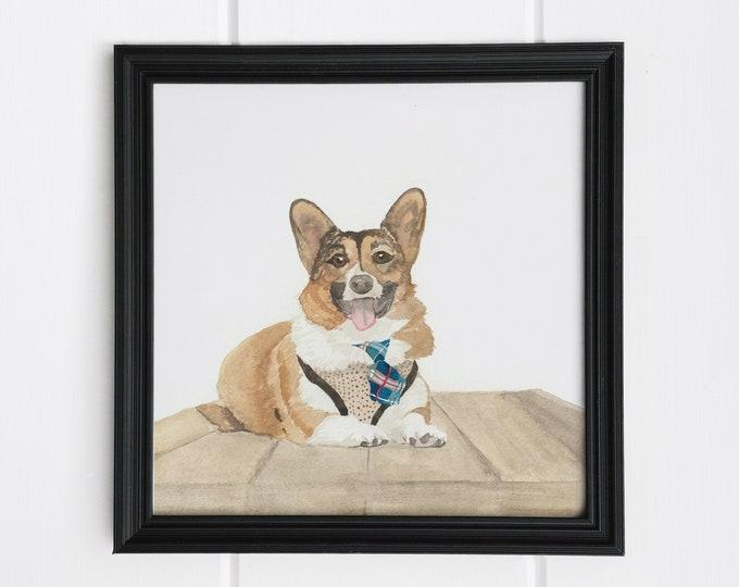 Custom Hand Painted Pet Watercolor | Custom Dog Illustration | Custom Cat Illustation