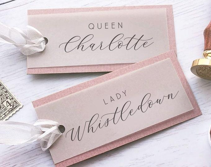 Vellum Placecards | Custom Name Card | Vellum Wedding Place Card
