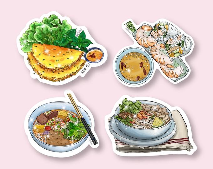 Vietnamese Noodles Vinyl Stickers | Bun Rieu | Bun Bo Hue