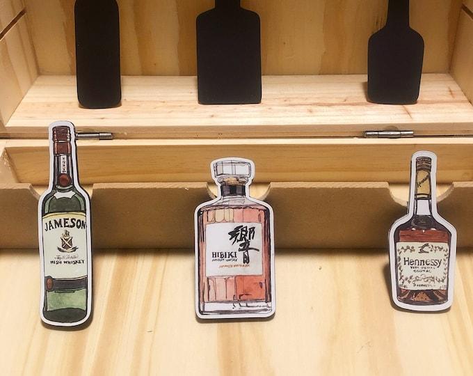Alcohol Bottle Magnets