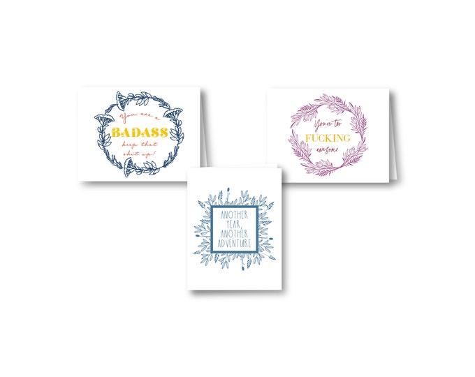 Badass & Awesome Greeting Cards   Botanical