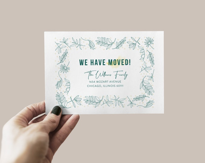 Botanical Moving Announcement Card
