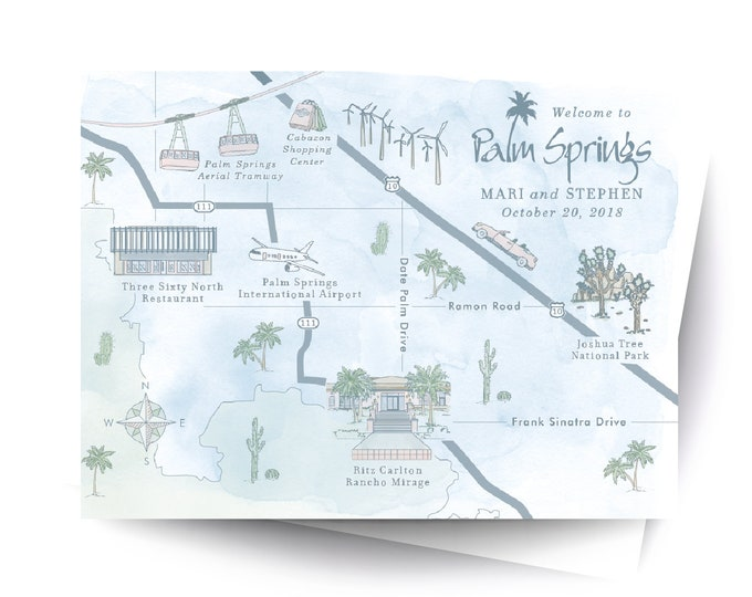 Custom Digital Wedding Map - Wedding Map