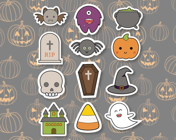 12pc - Halloween and Friends Cupcake Toppers
