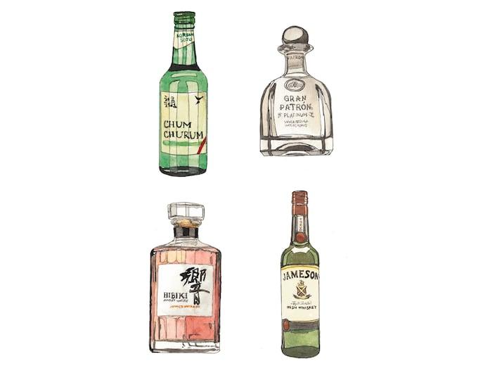 Vinyl Alcohol Bottle Stickers