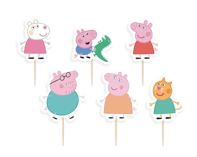 DIGITAL DOWNLOAD Peppa Pig & Friends Cupcake Toppers