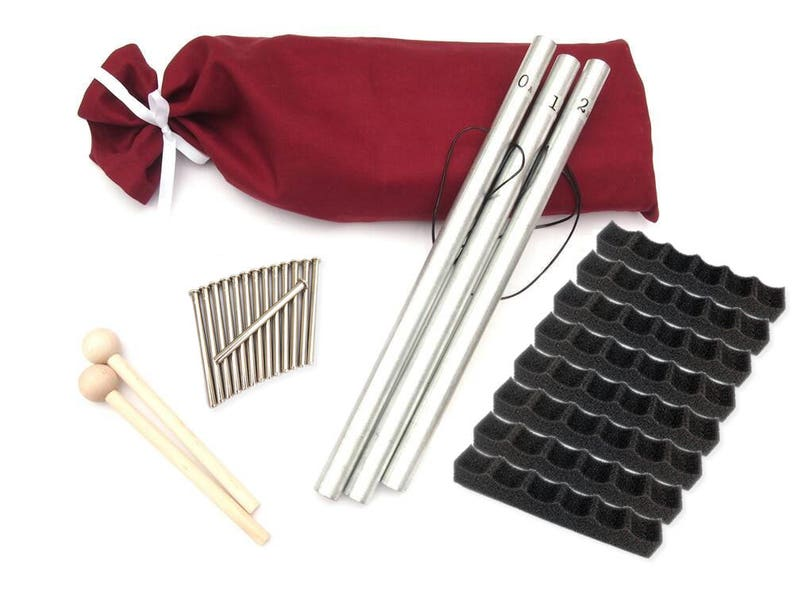 Pipe Chimes Bag Metal Strikers Holders Mallets image 0