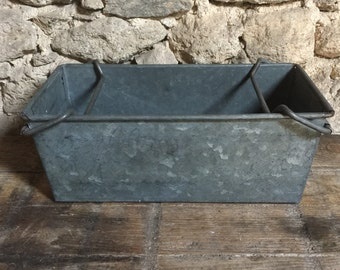 RESERVED FOR BECKY 3 Industrial French Vintage Zinc Troughs