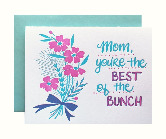 thank you to Mom Mother birthday Paper Rebel Letterpess Card million things