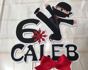 Ninja cake topper, Ninja birthday partyt, Ninja Birthday, Ninja tableware, Ninja decorations.