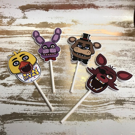 FNAF cupcake toppers, Five nights at Freddy's cupcake topper  Set of 12