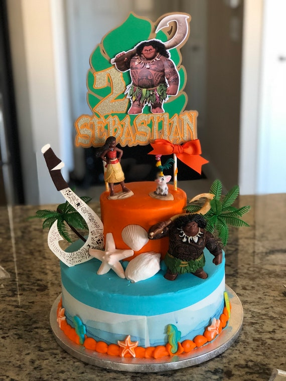 Maui Cake Topper Maui Inspired Party Moana And Maui Etsy