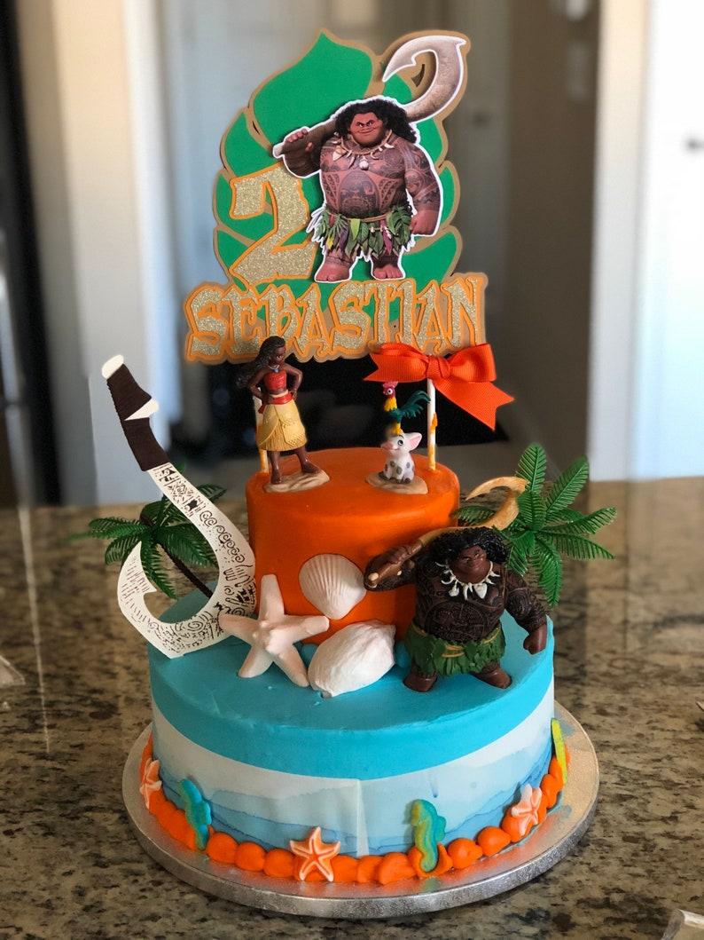 Maui cake topper Maui inspired party Moana and Maui | Etsy
