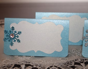 Frozen Inspired Place Cards, Frozen Party place cards, Place cards , set of 12
