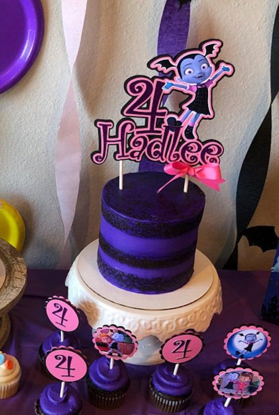 Vampirina Inspired Cake Topper Vampirina Tableware Etsy