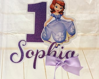 Sophia the first cake topper, Sophia the first party, Sophia the first birthday, Personalized centerpiece cake topper