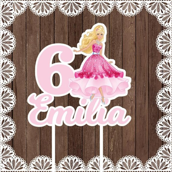Barbie Cake Topper Birthday Party