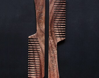 Big Red Beard Comb - Walnut No.7
