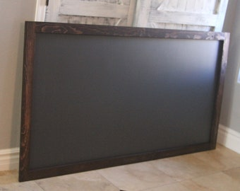 "Framed Magnetic Chalkboard 32"" x 48"" Farmhouse Rustic Kitchen Wedding Kids Playrooom Menu Restaurant Sign Executive Office Large Chalk Board"
