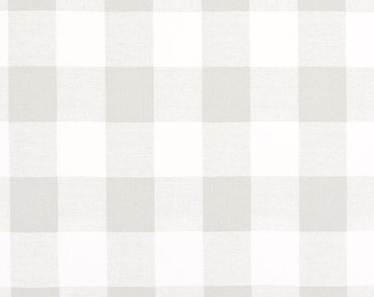 Premier Prints Anderson French Gray Canvas, Gray & White, Buffalo Check, Plaid, Fabric By The Yard, Upholstery, Drapery, Modern Farmhouse