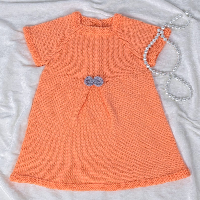 468a6bd8b4d2 Knitting pattern 38 Seamless Pleat Baby Girl Dressby