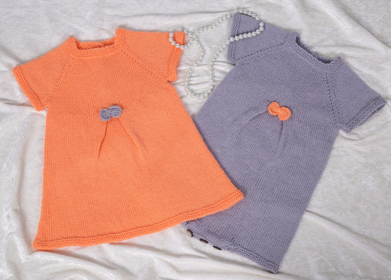 6adcb665946b Knitting pattern 39 Set Seamless Pleat Baby Girl Dress and