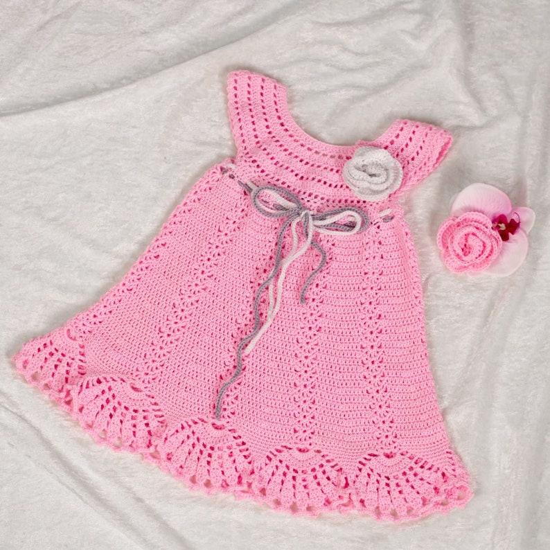 2031a915c654 Crochet Pattern 37Crochet Baby Dressby AsmartPattern.Size