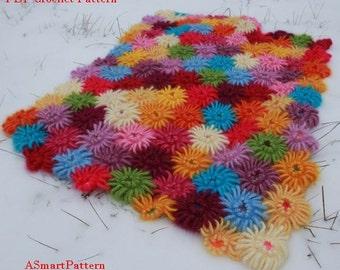 PDF Crochet Pattern-Crochet Dahlia Garden Blanket,Afghan,Bedspread,Throw by ASmartPattern, PDF file #12