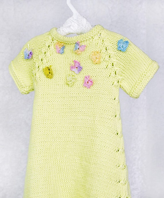 Knitting Pattern 27Butterfly Baby Dressby | Etsy