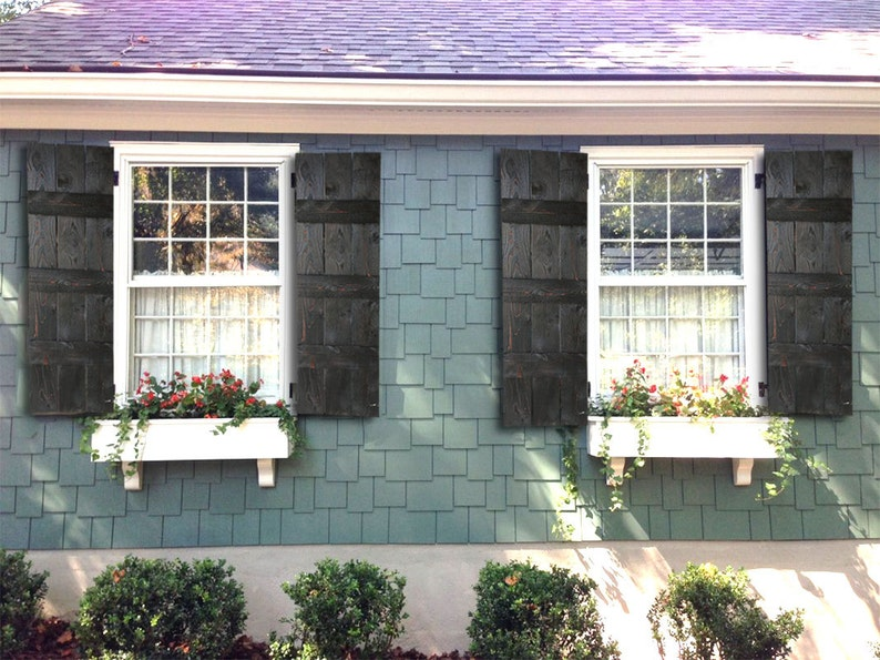 Rustic farmhouse style shutters rustic farmhouse window etsy