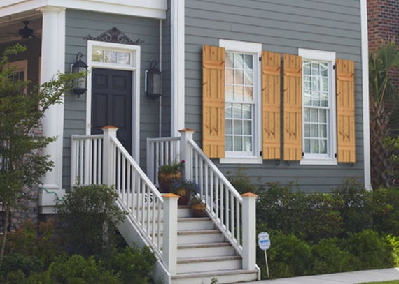 Superbe Cedar Farmhouse Style Shutters Rustic Farmhouse Window | Etsy