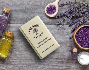 English Lavender Soap, Cold Process Soap, Moisturizing soap, Natural Soap, Vegan Soap, Creamy lather soap, Gentle Handcrafted Soap Bar