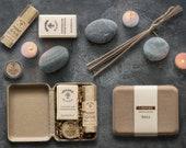 Personalized men's gift box, Self-care for him, Grooming Kit, Valentines Gift, Men's Cologne, Deodorant, Beard kit, Zero Waste Men's Gift