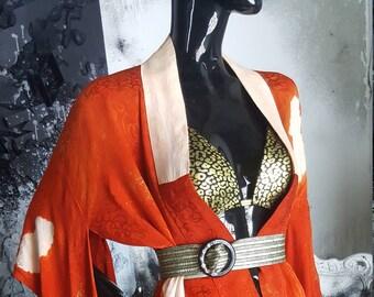 Kimono silk red