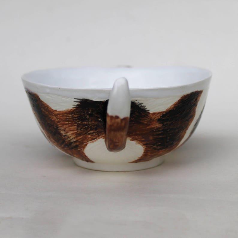 Basset hound Ceramic Bowl, Basset mug, carréaliste bol d'art pour chiens, saladier, bol de céréales, vaisselle pour enfants, tasse de soupe Basset hound
