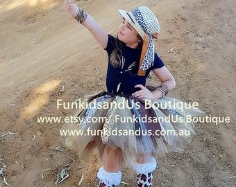 Safari Tutu Skirt - Animal Print Tutu  - Jungle Tutu  - 1st Birthday Tutu- Newborn Tutu, Photo Prop, Tutus for Children