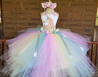 9b1779654f02 Pastel Unicorn Tutu Dresses Birthday girl - Unicorn Dress First Birthday -  Unicorn Birthday Costume - Pastel Dress -