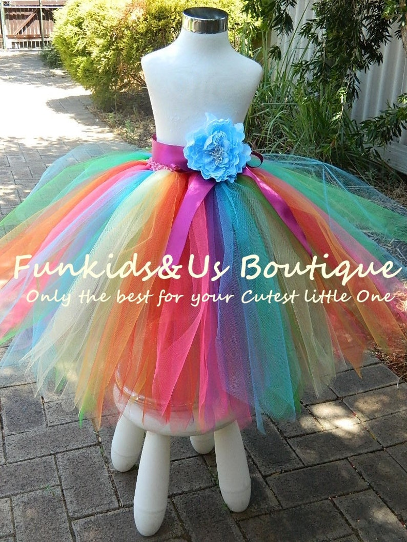 Rainbow Tutu Skirt Pixie Cut Rainbow Tea Lenghttutu Skirt Etsy