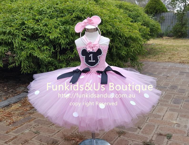 2c2521b85c51 Minnie rosa ispirato Tutu vestito Minnie compleanno a tema | Etsy
