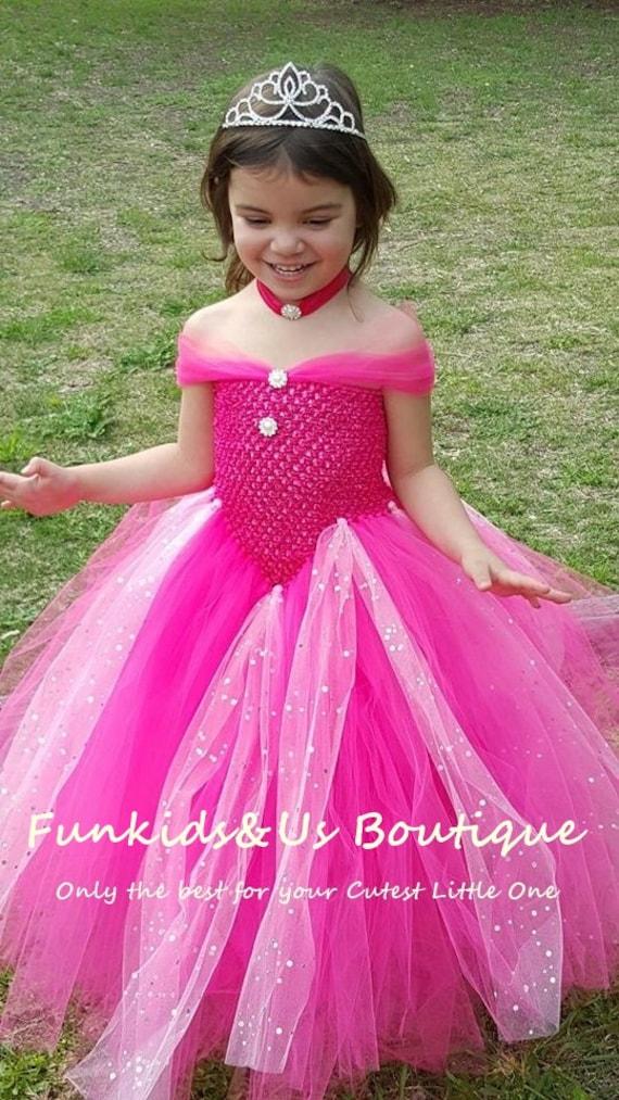 Hot Pink Gown Tutu Dress Stunning Pink Princess Gown dress | Etsy