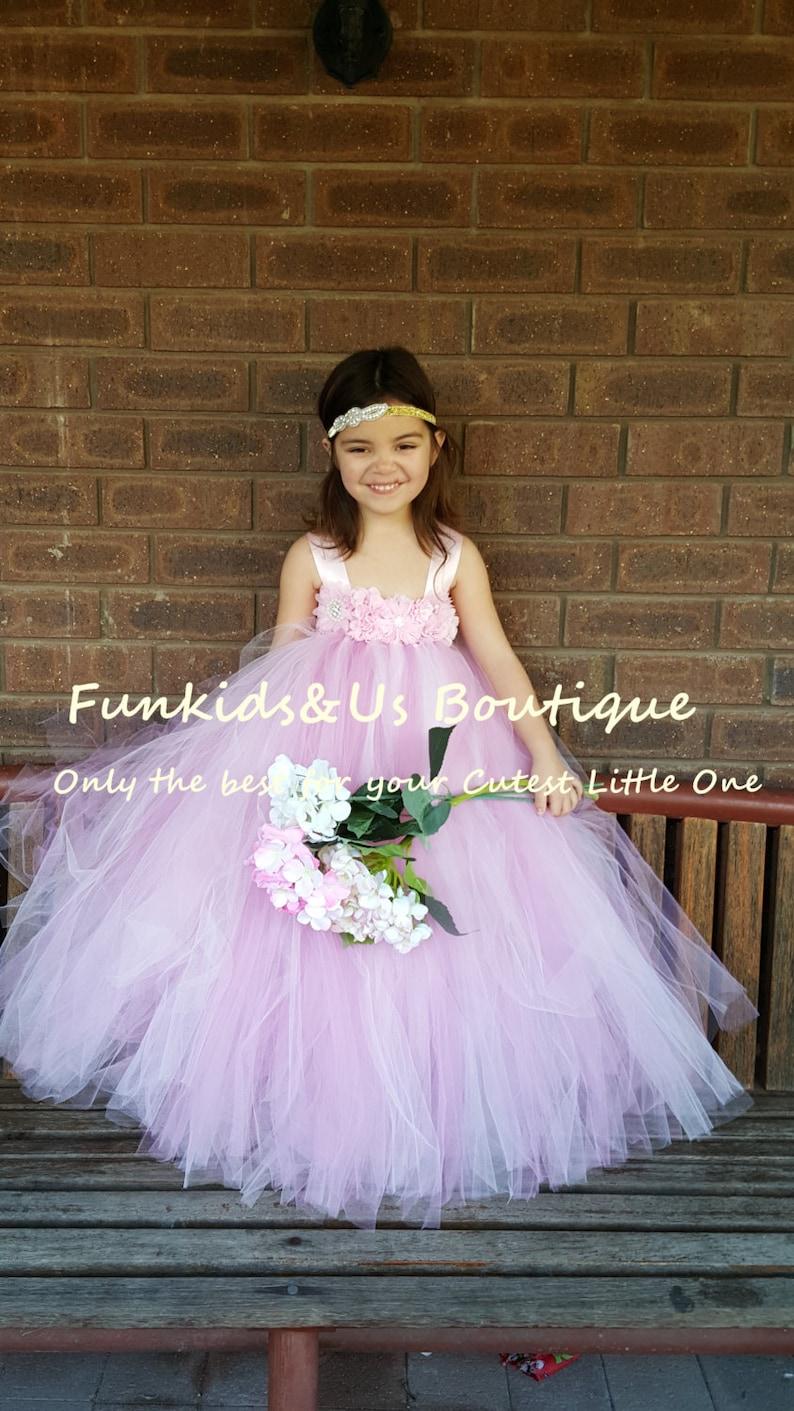 581bbb8fd999f Light Pink and Dusty Rose Flower girl Tutu Dress Vintage | Etsy