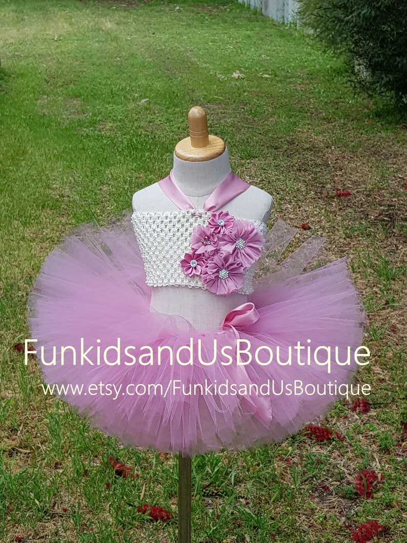 Dusty Rose smash cake photo prop Dusty Rose Pink Baby girl outfit First Birthday Tutu Dusty Rose Tutu