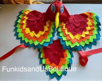 Bird felt wing - Bird Wings Costume Kids  - Parrot Wings, Tail  and Beaks - Bird Costume Set, Bird Wings and Hat beak