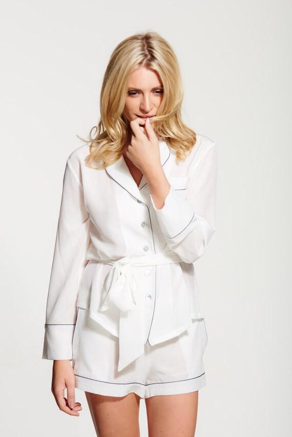 7e79f912b7 Women s 100% Silk Crepe de Chine Pyjama Set Short Silk