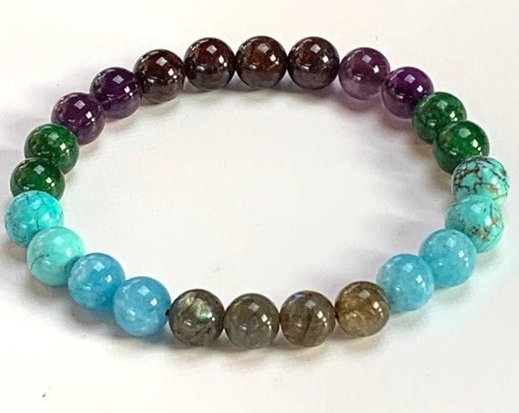 AQUARIUS bracelet, Aquarius Crystal Power Bracelet - Bracelet For Men - Aquarius Zodiac Sign Bracelet - Bracelets For Women - Bracelets