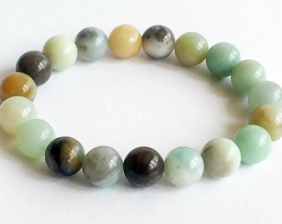 amazonite bead bracelet or amazonite stone bracelet diffuser bracelet, aromatherapy bracelet,Christmas