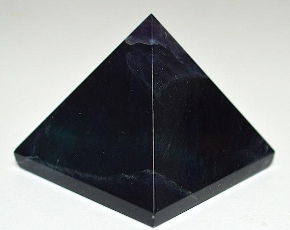 Blue Fluorite Chakra Energy Pyramid Healing Crystals and Stones, Rose Quartz Clear Quartz Tourmaline Gemstone Pyramid stones pendulum, Reiki